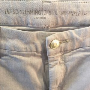 "Chico's 1.5 ankle tan slimming 34 Waist 27"" inseam"